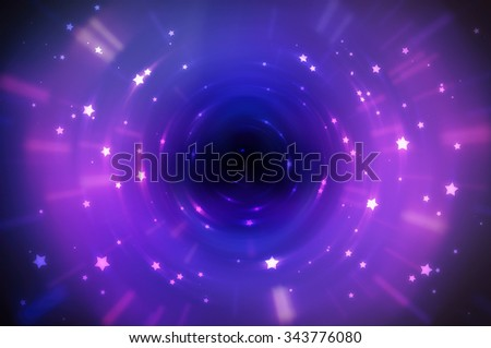 Abstract fractal violet background with crossing circles and ovals. disco lights background. - stock photo