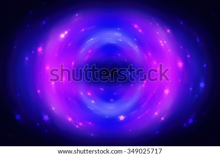 Abstract fractal violet background with crossing circles and ovals. disco lights background.