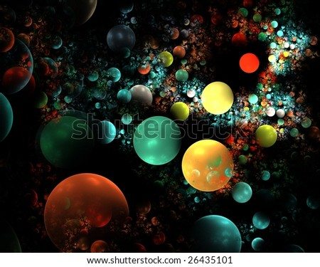 abstract fractal wallpaper design over a black background