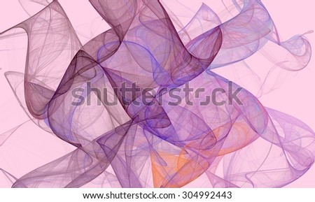 Abstract fractal waves generated image