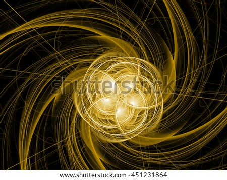 Abstract fractal with  glowing wavy lines . fantasy background - stock photo