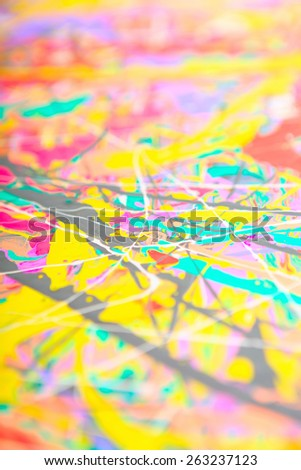 abstract fragment of my acrylic painting soft focus bokeh shallow depth of field acryclic painting soft