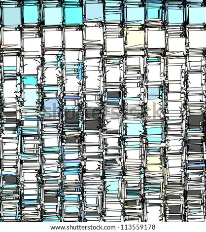 abstract fragmented backdrop pattern in blue gray white - stock photo