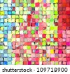 abstract fragmented tile multi color backdrop - stock photo