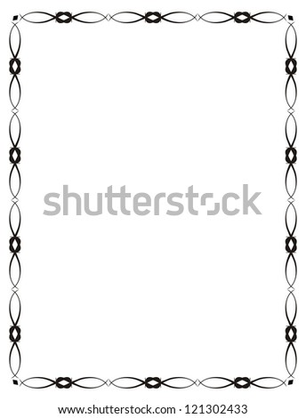 Abstract frame, calligraphy, decor, vector illustration
