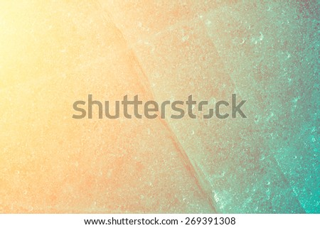abstract frozen background of ice on sunset - stock photo