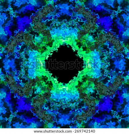 Abstract frozen sharp ice in blue 3D illusion made seamless - stock photo