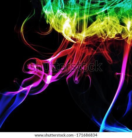 Abstract fume swirls - stock photo