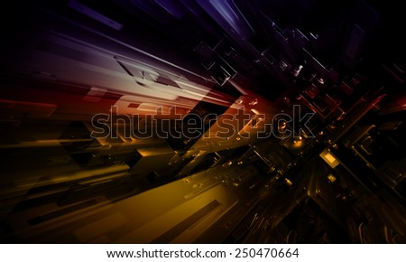 Abstract future city background - stock photo