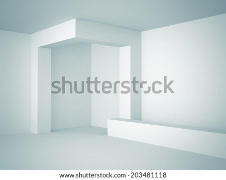 Abstract Futuristic Architecture Background Design. 3d Render Illustration - stock photo