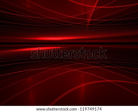 abstract futuristic background with glowing stripes - stock photo