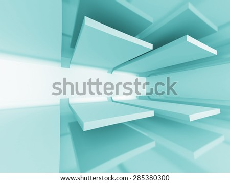 Abstract Futuristic Design Architecture Background. 3d Render Illustration - stock photo