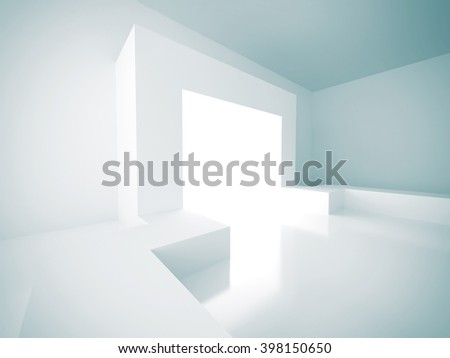 Abstract Futuristic Design Architecture Background. 3d Render Illustration