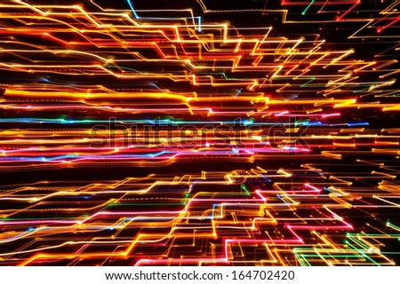 Abstract Futuristic Glowing Background - stock photo