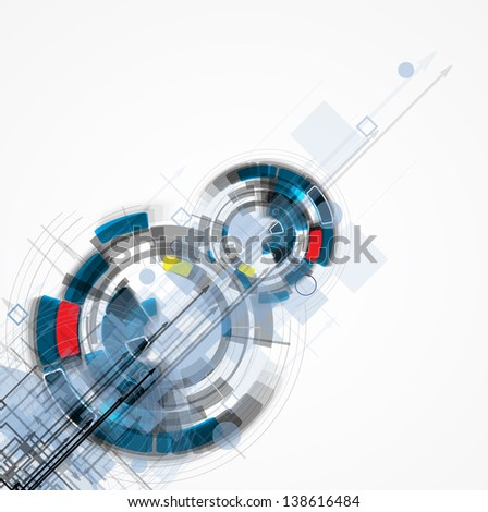 abstract futuristic internet high computer technology business background - stock photo