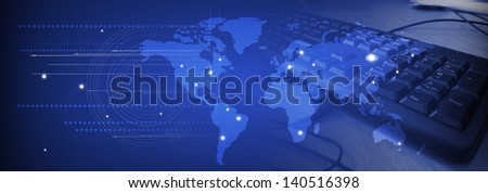abstract futuristic internet high computer technology business background