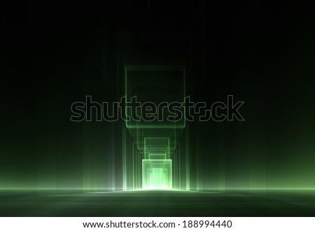 Abstract futuristic minimalist background - stock photo