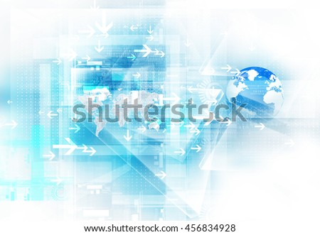 Abstract futuristic technology. 3d illustration. Technology background image
