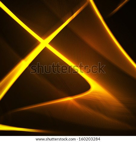 Abstract, futuristic wavy illustration, colorful element. - stock photo