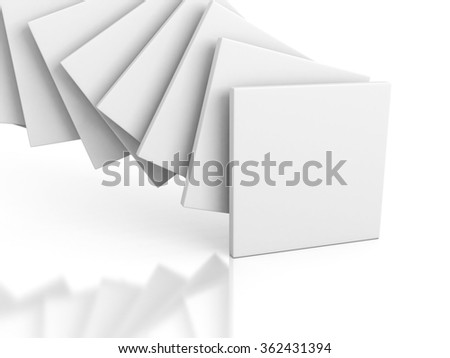 Abstract gallery Stand Banner Background. 3d Render Illustration - stock photo