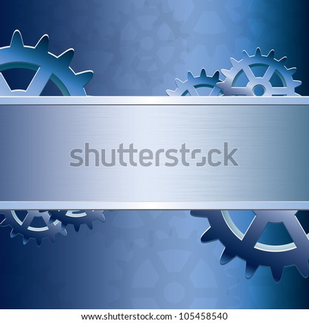 Abstract gear background - stock photo