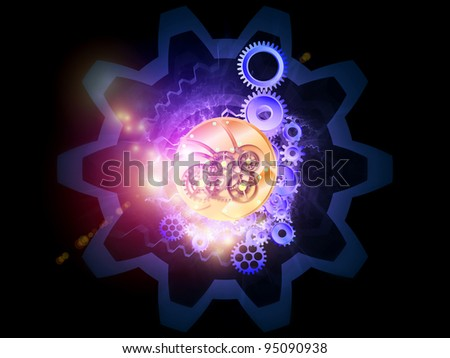Abstract gears background suitable as a backdrop for projects on technology, technological, mechanical, engineering  and industrial processes