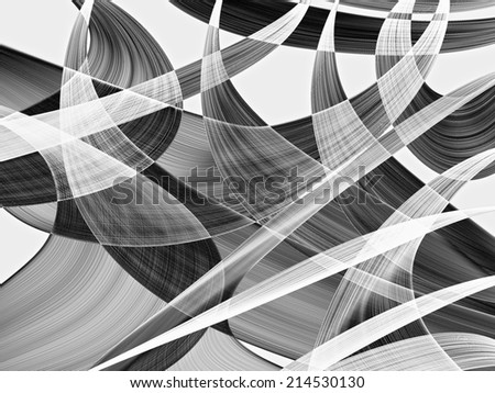 Abstract generated black and white pattern graphic background - stock photo