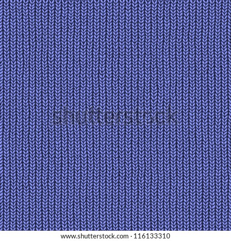 Abstract generated blue knitting surface seamless background - stock photo