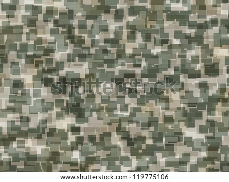 Abstract generated camouflage pattern for background and design