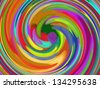 Abstract generated graphic colorful spiral pattern ornate background - stock vector
