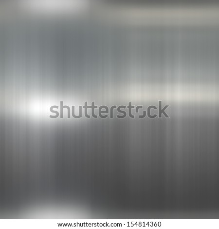 Abstract generated seamless shiny brushed metal plate background - stock photo