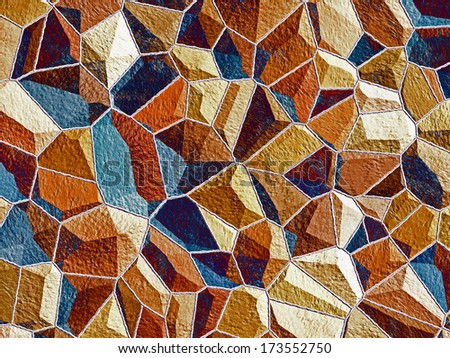 Abstract generated stone wall surface for background and design - stock photo