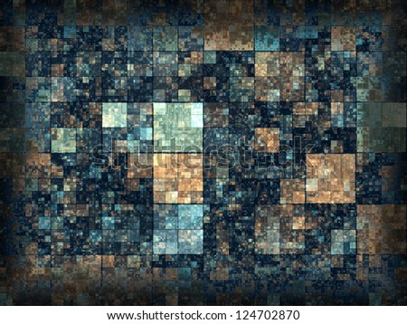 Abstract generated vintage pattern grunge graphic background - stock photo