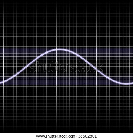 Abstract generic science audio waves measurement display illustration