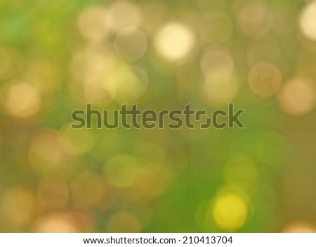 Abstract gentle green background - yellow spots bokeh