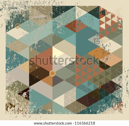 Abstract geometric background for design - stock photo