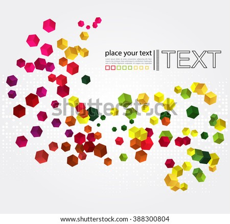 Abstract geometric background with colorful cubes  - stock photo