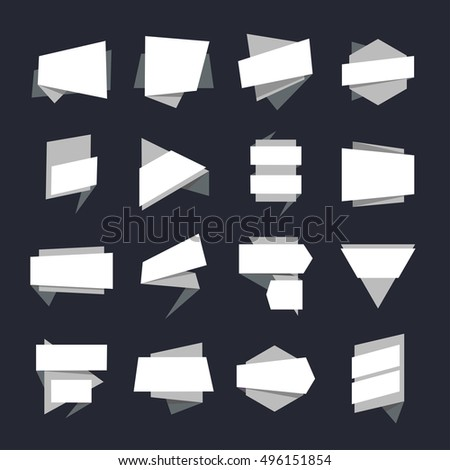 Abstract Geometric Banners Label Collection. illustration