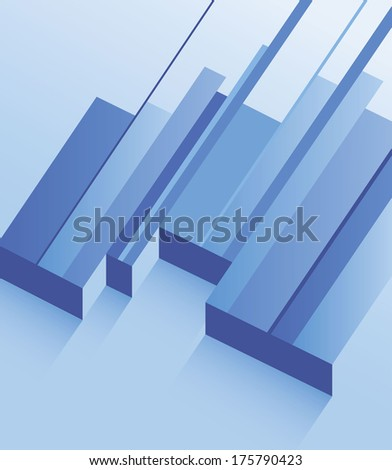 Abstract geometric blue background with lines