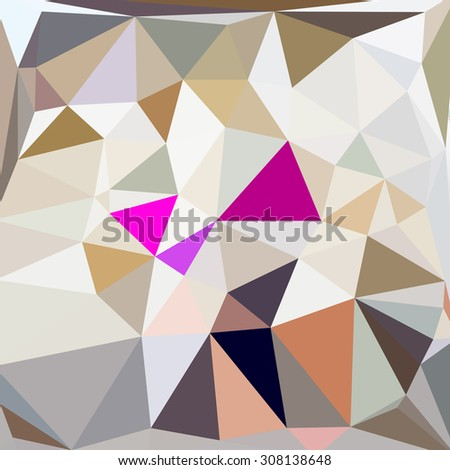 Abstract geometric brown background with triangular polygons, low