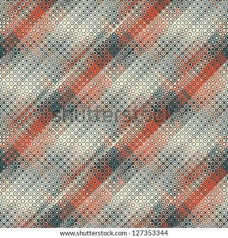 Abstract geometric bubbles textured background. Seamless pattern.