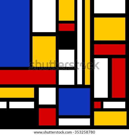 Abstract geometric colorful vector pattern for continuous replicate - stock photo