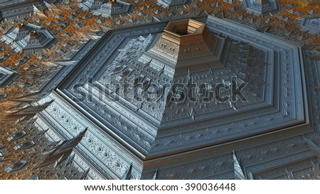 abstract geometric composition - stock photo