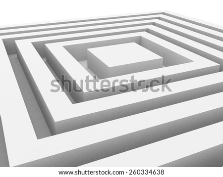 Abstract Geometric Cube White Background. 3d Render Illustration - stock photo