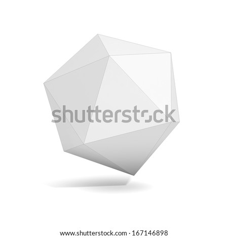 abstract geometric 3d object, more polyhedron variations in this set - stock photo