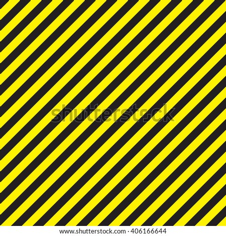 Abstract geometric lines with diagonal black and yellow stripes. Illustration