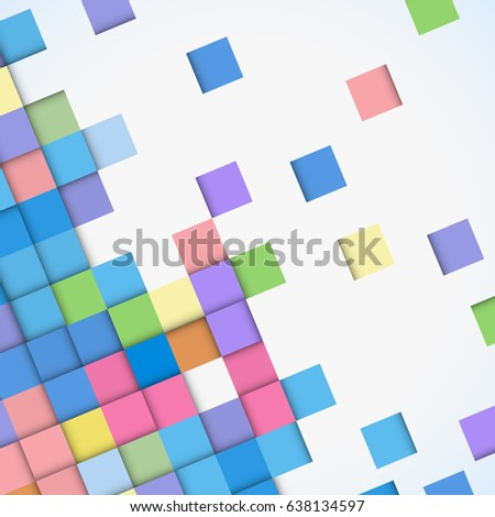 Abstract geometric mosaic background made of colorful square, design pattern texture