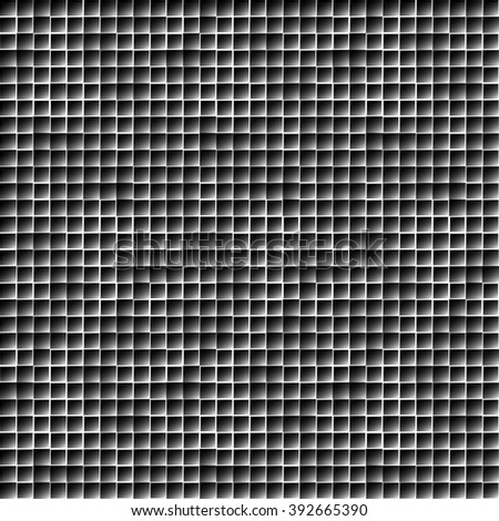 Abstract geometric mosaic pattern, simple seamless monochrome background.