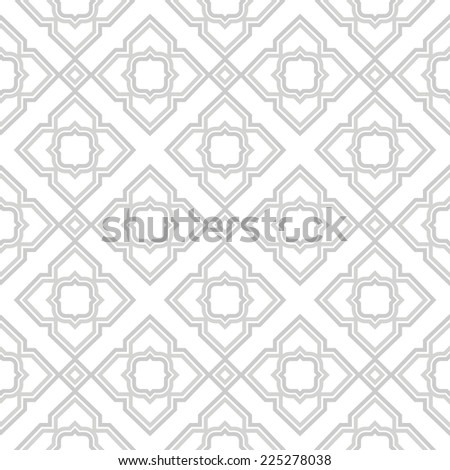 Abstract geometric pattern. A seamless  background. Gray and white texture. - stock photo