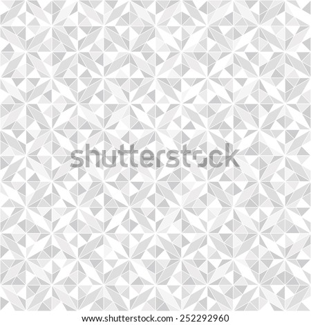 Abstract geometric pattern by rhombuses. A seamless  background. Gray and white texture. - stock photo